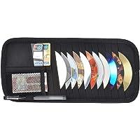 Lehrua Car Cd DVD Visor Organizer Holder Storage 2 in 1 Car Tissue CD Box Cover CD Holder Sun Visor