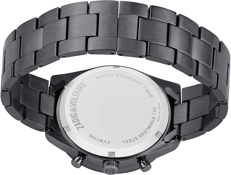 Zadig & Voltaire Montre Femme et Homme Quartz Bracelet Acier Noir / Cadran Noir 3