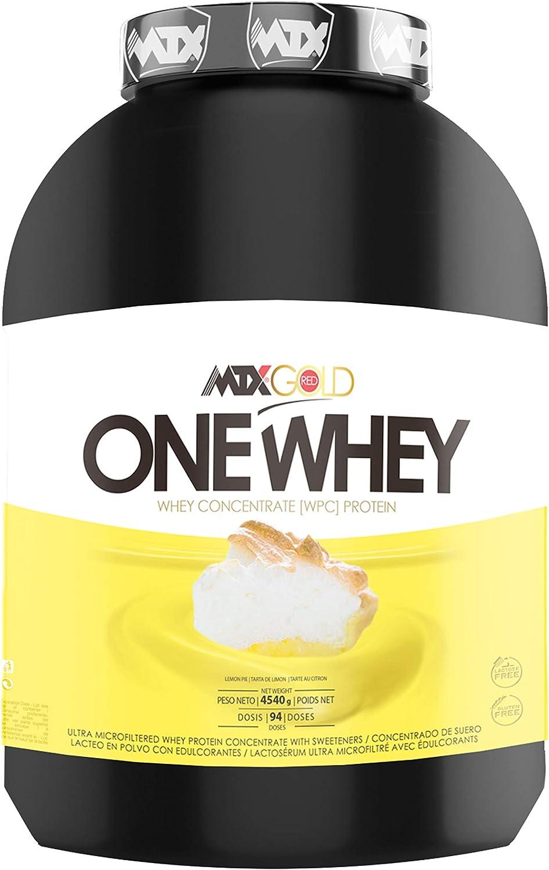 MTX nutrition OneWhey [4,535 kilos ] 10 Lbs. LEMON PIE -Proteínas de Suero Premium fabricado por Microfiltración muy bajo en lactosa, grasa