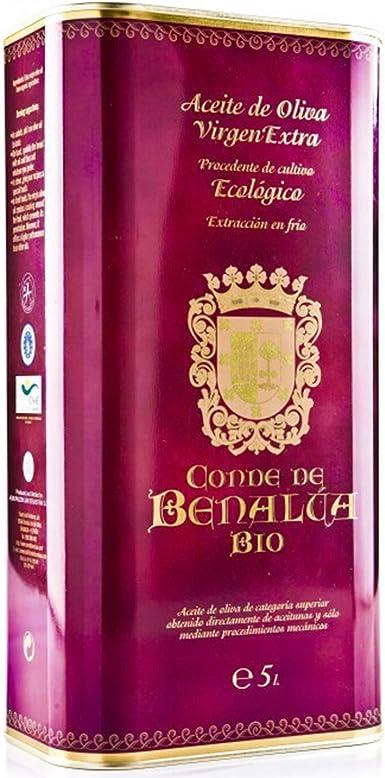 Aceite Ecologico Oliva Virgen Extra Conde de Benalúa Bio - Lata 5 Litros [Variedad Picual] [Origen de España]: Amazon.es: Alimentación y bebidas