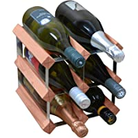 Harbour Housewares 6 Bottle Wine Rack - Fully Assembled - Dark Wood