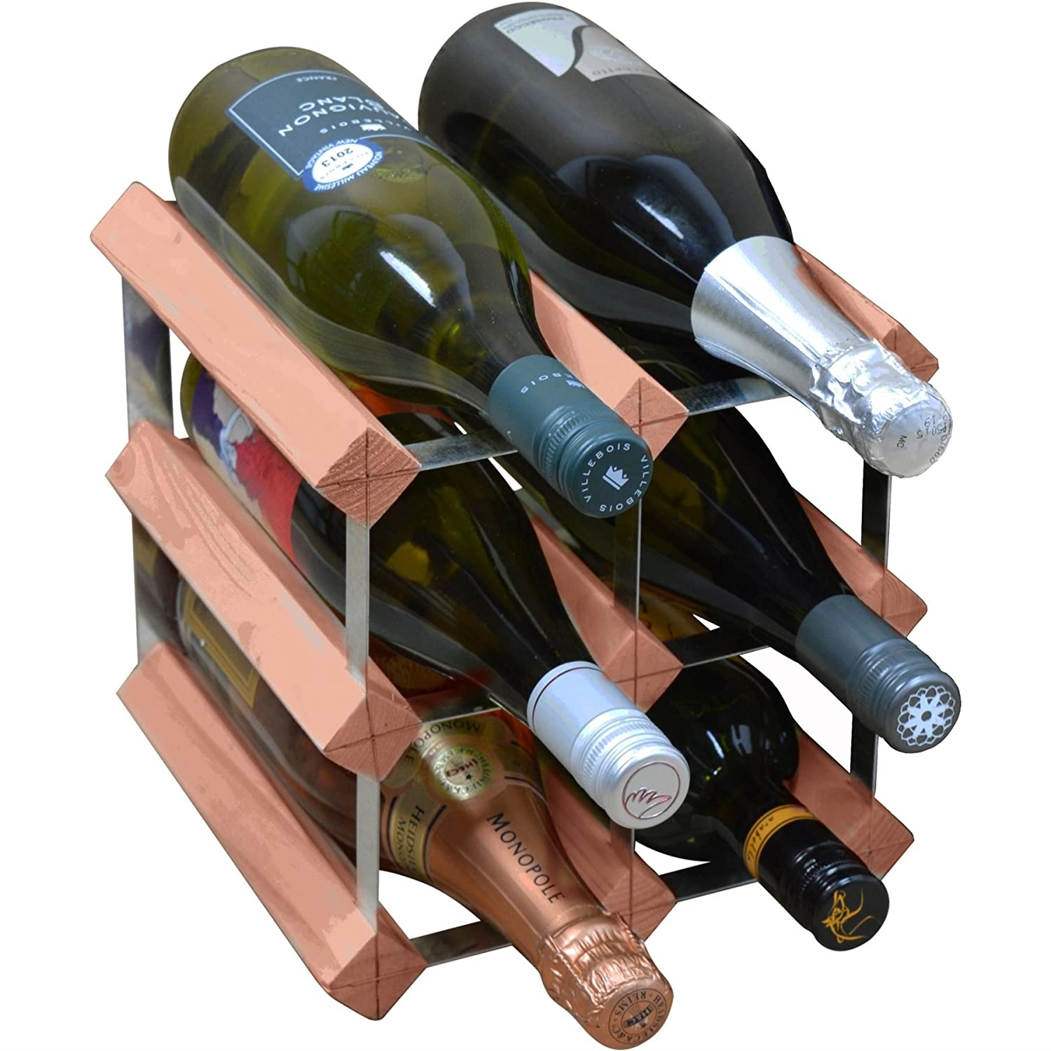 A CHARMING WINE BOTTLE HOLDER RACK FISH GUZZLER GREAT GIFT