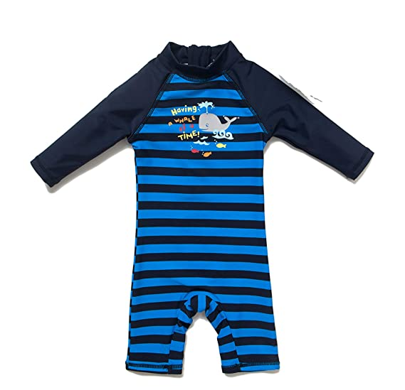 BONVERANO Baby Junge EIN st/ück Kurz/ärmel-Kleidung UV-Schutz 50 Badeanzug MIT Einem Rei/ßverschluss