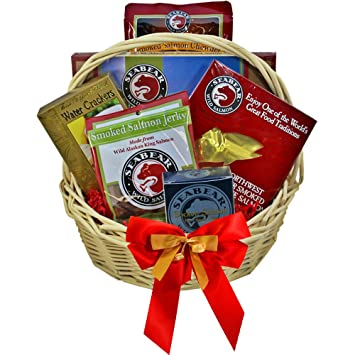 Image Unavailable. Image not available for. Color: Smoked Salmon Seafood Lovers Red Gourmet Food Gift Basket