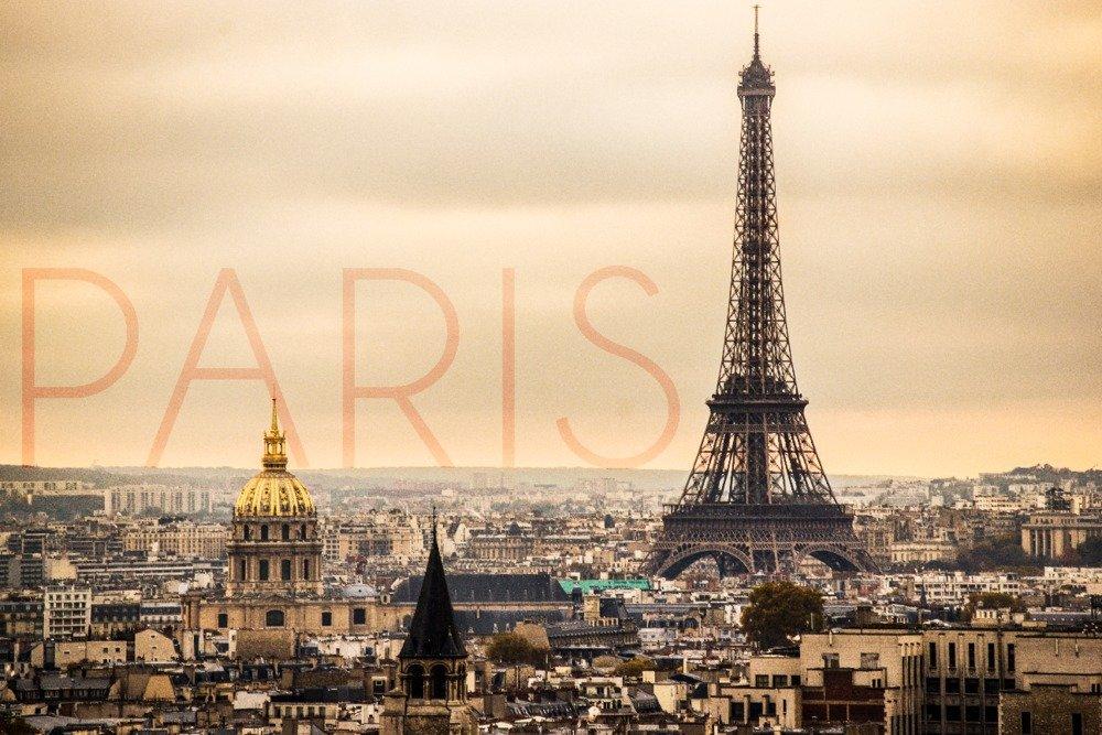 パリ、フランス – City Aerial Viewとエッフェル塔 16 x 24 Giclee Print LANT-56001-16x24 B014ZR1ANY 16 x 24 Giclee Print16 x 24 Giclee Print