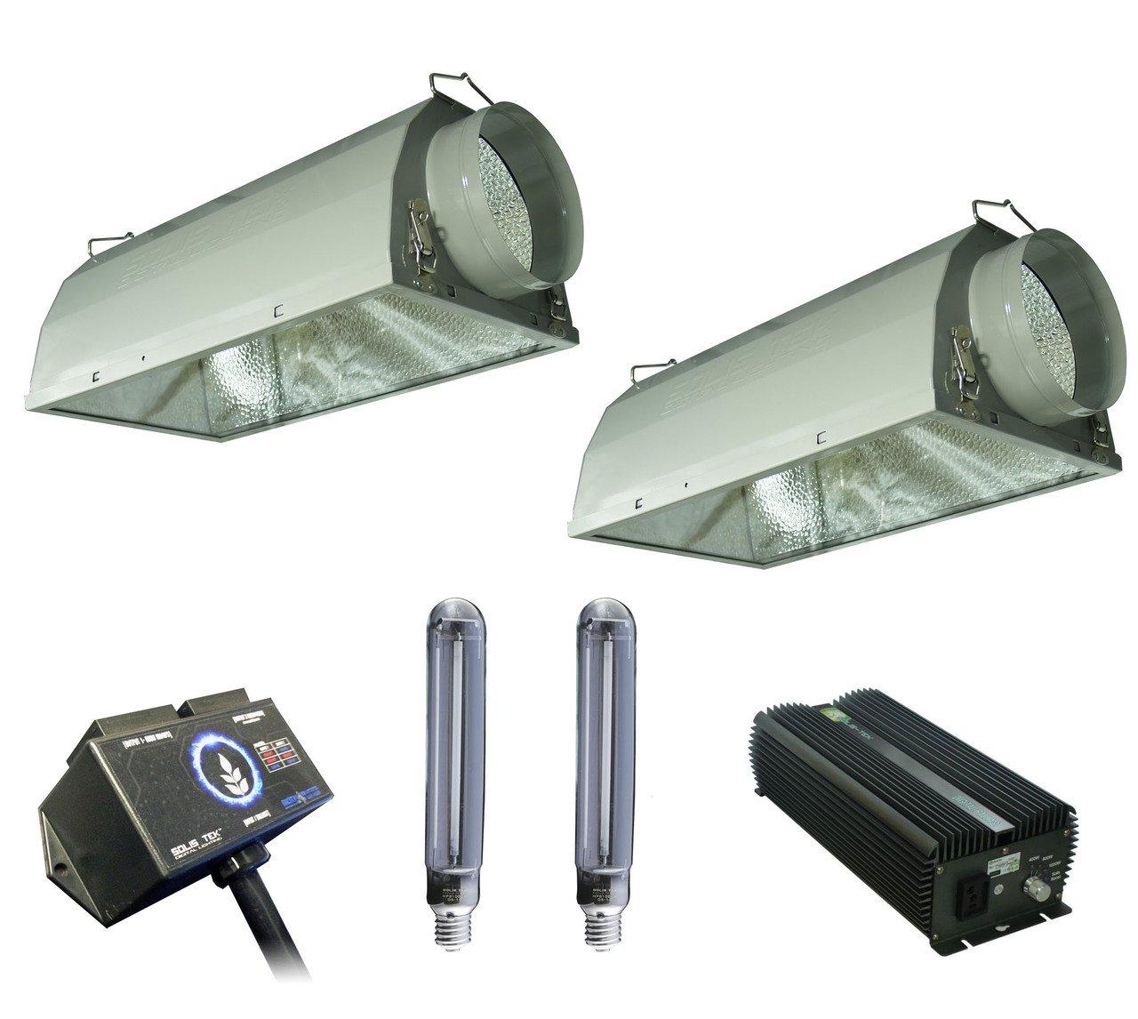 SolisTek Combo: 1000w Ballast, HPS Bulbs, 6'' Reflectors, & Digital Splitter
