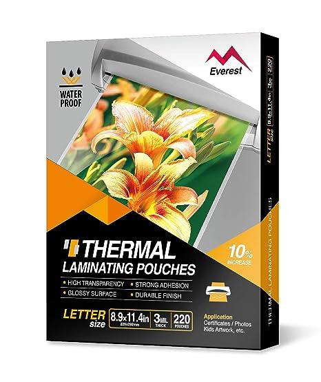 Amazon.com: Everest - Bolsas de plastificación térmica de ...