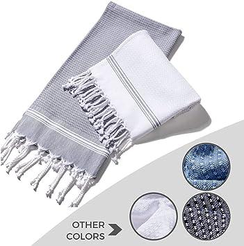 Amazon.com: Toalla turca de baño Evopin, 100 % algodón ...