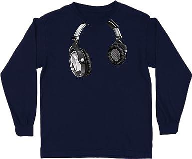 lepni.me Camiseta para Niño/Niña Regalo de DJ para los Amantes de la música Música Retro, Electrónica, Auriculares Imprimir