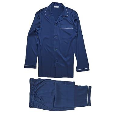 Jasmine Silk para hombre de seda pura pijamas Armada (Small)