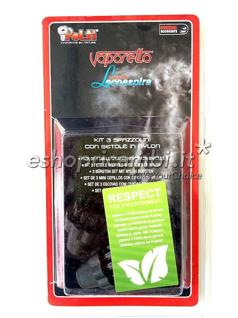 Kit 3 Spazzolini in nylon per Vaporetto e Lecoaspira [PAEU0250] Polti