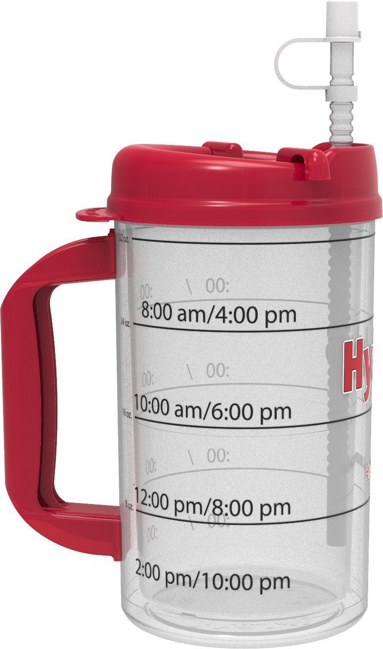 Hydr-8 Red 32ounce Air-Insulated Water Bottle Hydr-8 Water Bottles FBA/_I32-RED