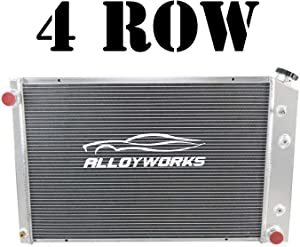 ALLOYWORKS 4 Row All Aluminum Radiator For 1973-1991 Chevy GMC C/K Series Pickup Trucks Blazer Jimmy Engine Cooling Parts