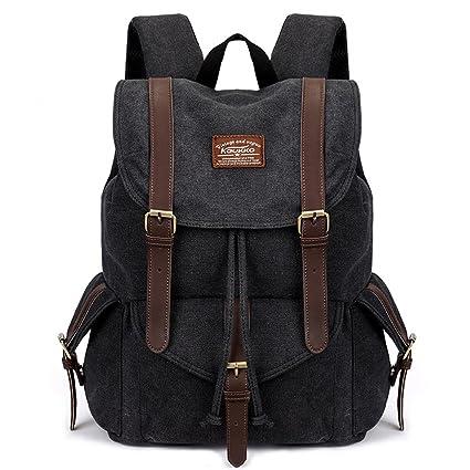 7719796561a0 Amazon.com : Super Modern Canvas Backpack Vintage Rucksack Hiking ...