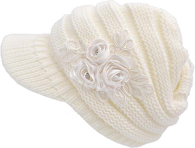 QS_Go Sombreros de Mujer Sombrero Grande con Flores Sombreros de ...