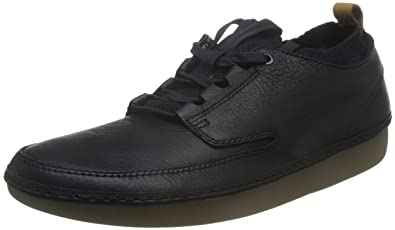 Clarks Nature IV  Black Leather Mens Shoes 8 US