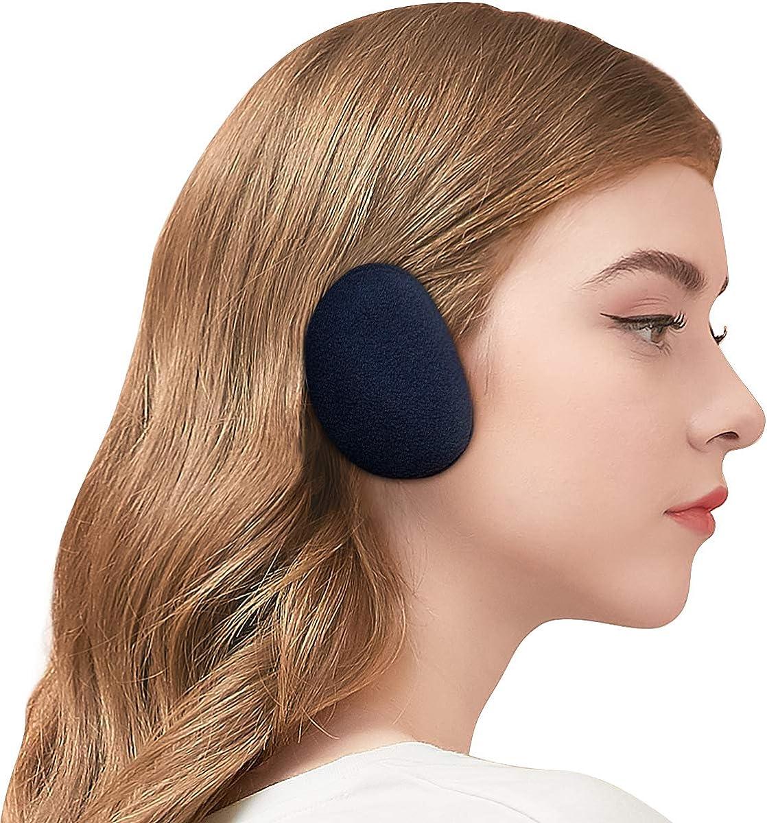 1 Pairs Winter Fleece Ear Muffs Soft Cover Windproof Earmuffs Outdoor for Men Women 3 Sizes Bandless Ear Warmers