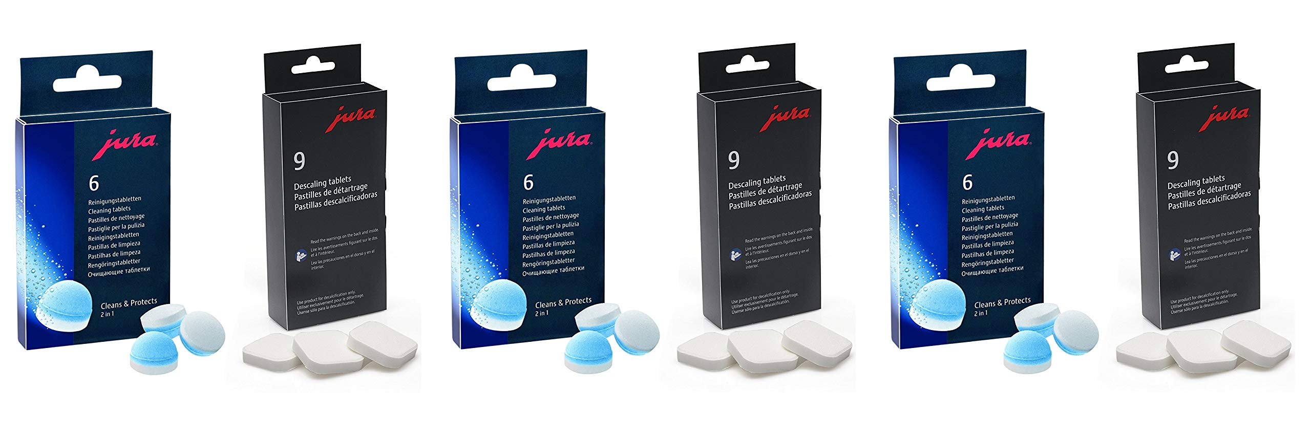 Descaling Tablets and Cleaning Tablets for Jura-Capresso Automatic Coffee and Espresso machines Combi pack (Pack of 3)