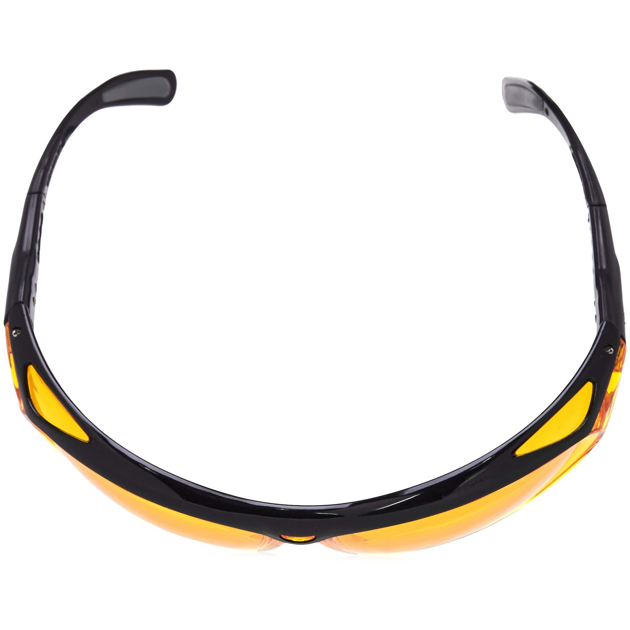 AmazonBasics Blue Light Blocking Safety Glasses, Anti-Fog, Orange Lens, 6-Count by AmazonBasics (Image #6)