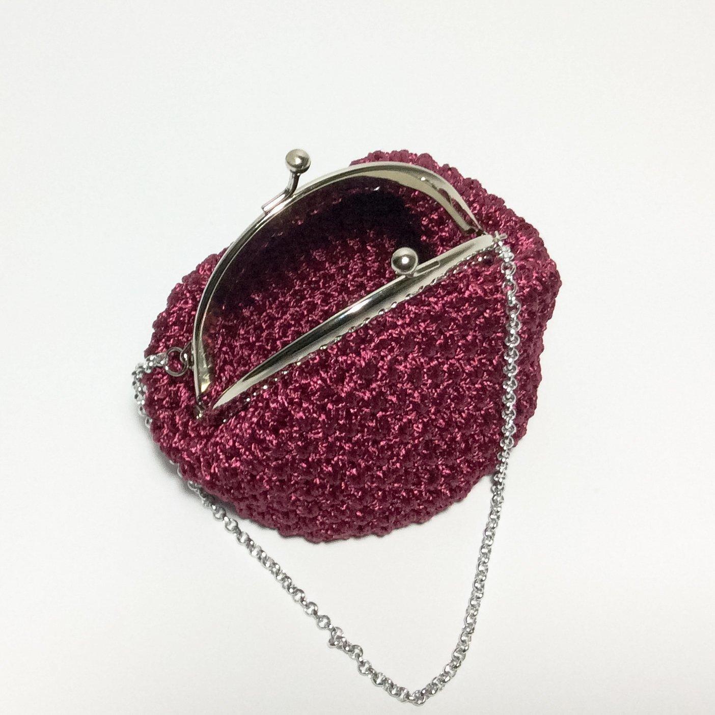 SOFIA - Italian Handmade - Monedero hecho a mano. Crochet ...