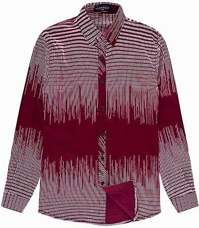 LIUXING-TUMI - Camiseta de Manga Larga de algodón para Hombre (Talla M, L, XL, XXL, 3XL), algodón, Rojo, X-Large: Amazon.es: Hogar