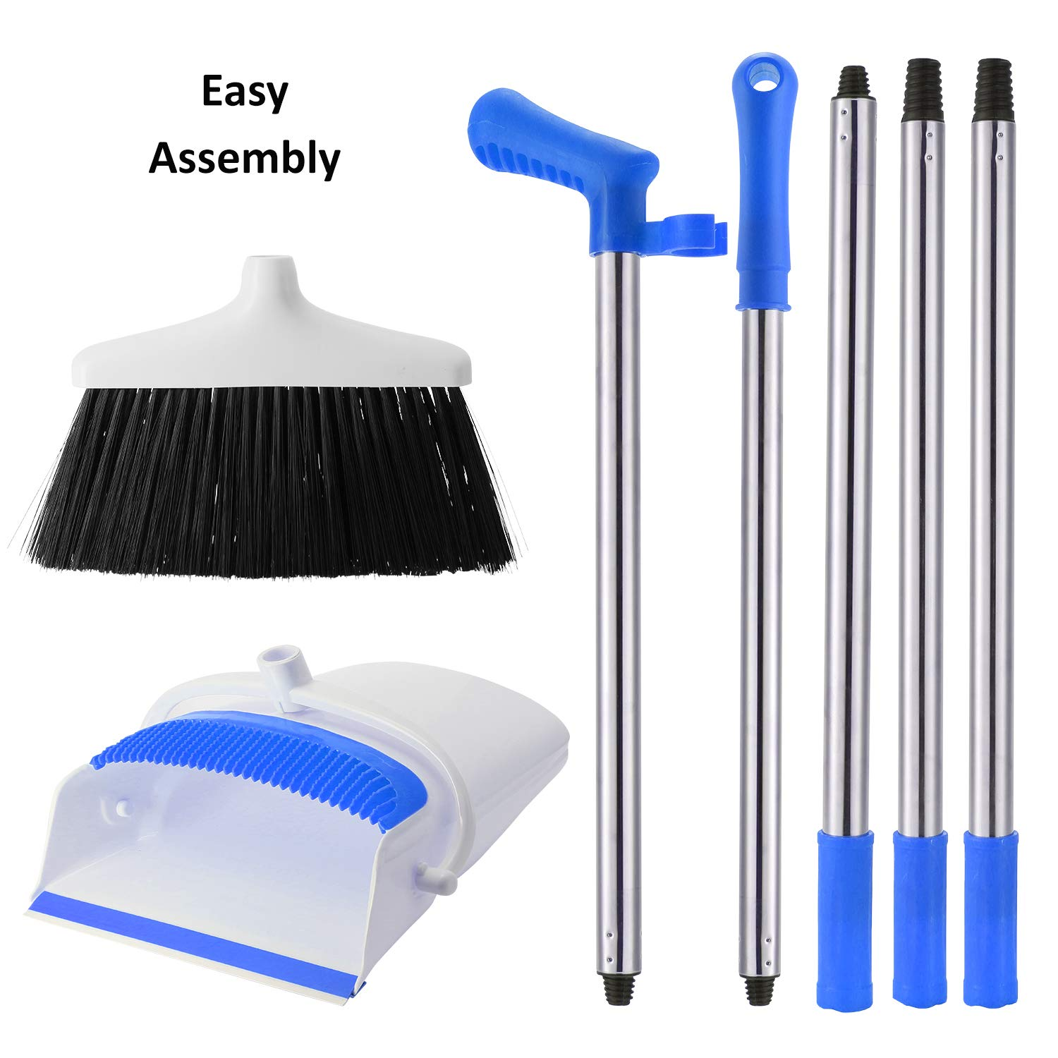 Broom And Dustpan Set - Strongest 30% Heavier Duty - Upright Standing Dust Pan With Extendable Broomstick For Easy Sweeping - Easy Assembly Great Use For Home, Office, Kitchen, Lobby Etc.- By Kray by kray (Image #5)