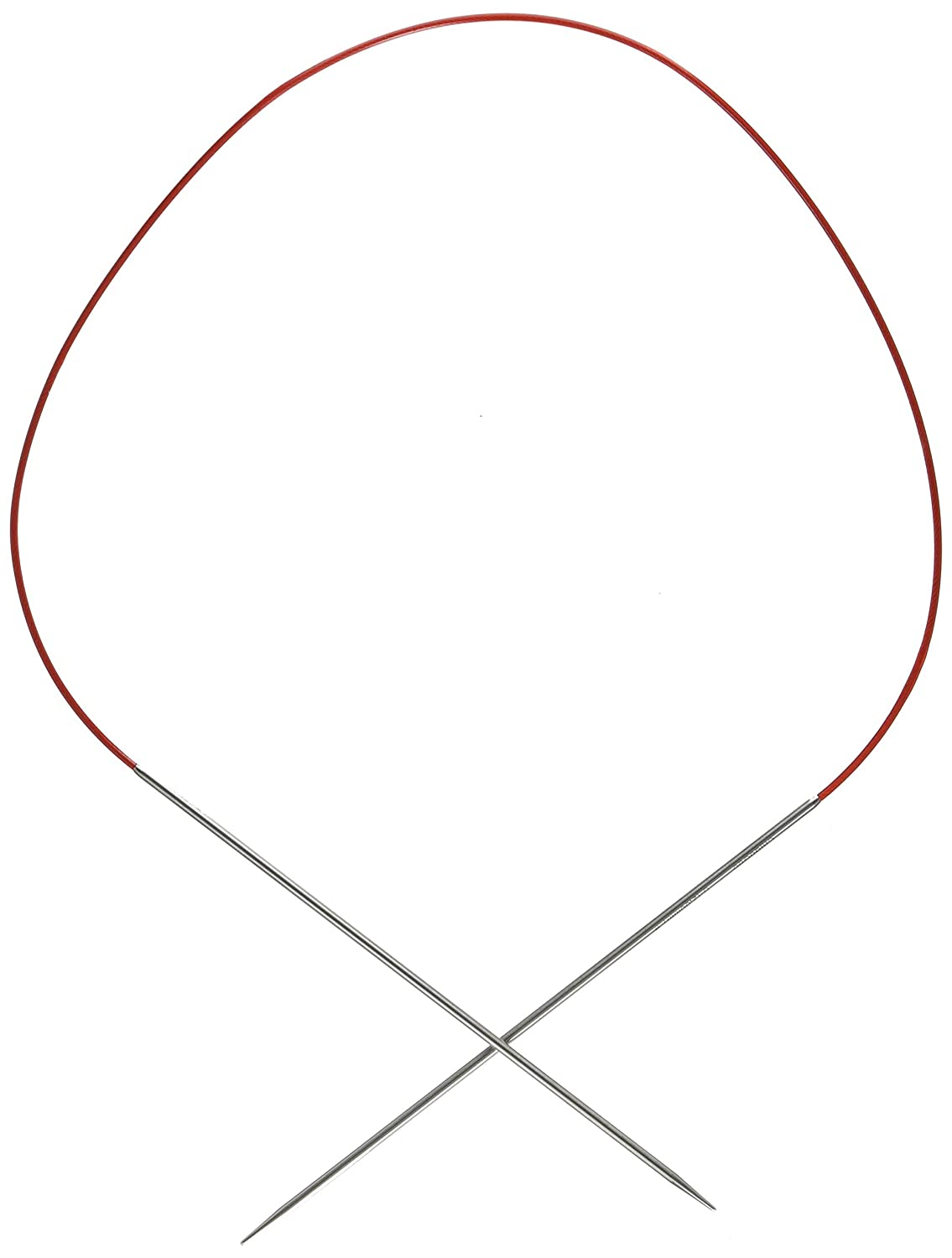ChiaoGoo Red Lace Circular 24-inch (61cm) Stainless Steel Knitting Needle; Size US 5 (3.75mm) 7024-5