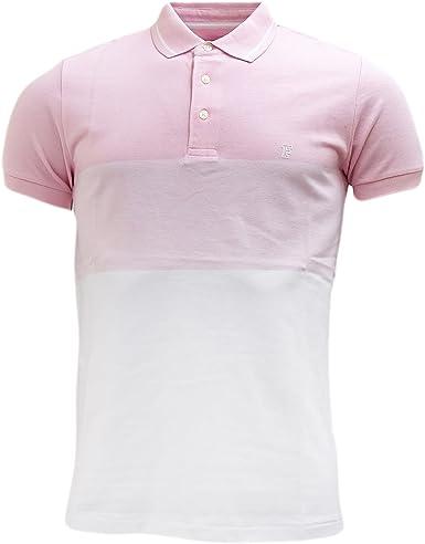 French Connection Ombre Pique Polo Camisa para Hombre: Amazon ...