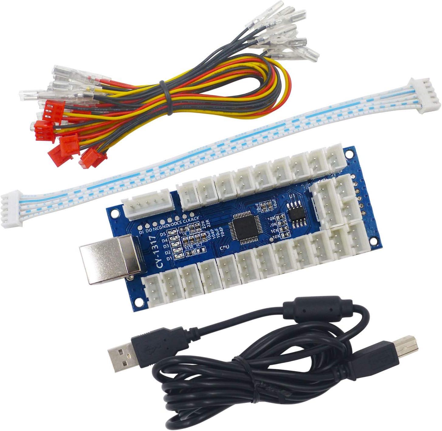 SJ@JX Arcade USB Encoder LED Zero Delay Arcade Controller PC PS3 Android Arcade DIY Kit LED Arcade LED Button