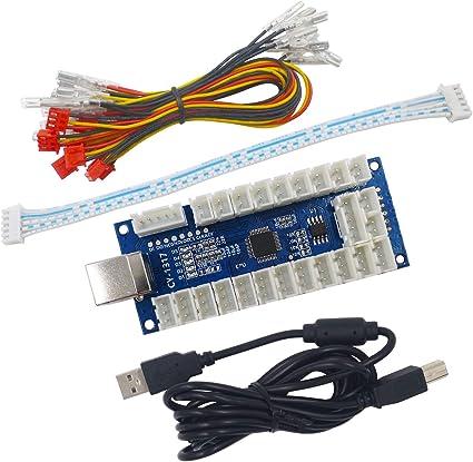 Zero Delay LED Arcade MAME Encoder USB To PC 5Pin Joystick PCB Board+Kabel