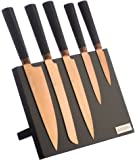 Viners Titan Kitchen Knife Block Set, Stainless Steel Copper, 10 x 34 x 10 cm