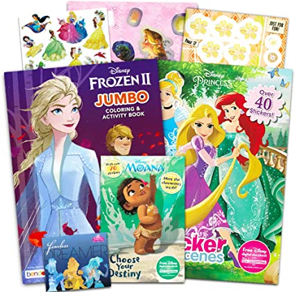 Disney Princess Coloring and Activity Book Super Set ...