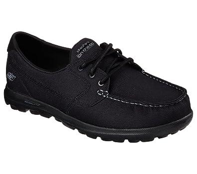 Amazon.com | Skechers Men's On The Go Sandbar Boat Shoes Black US ...