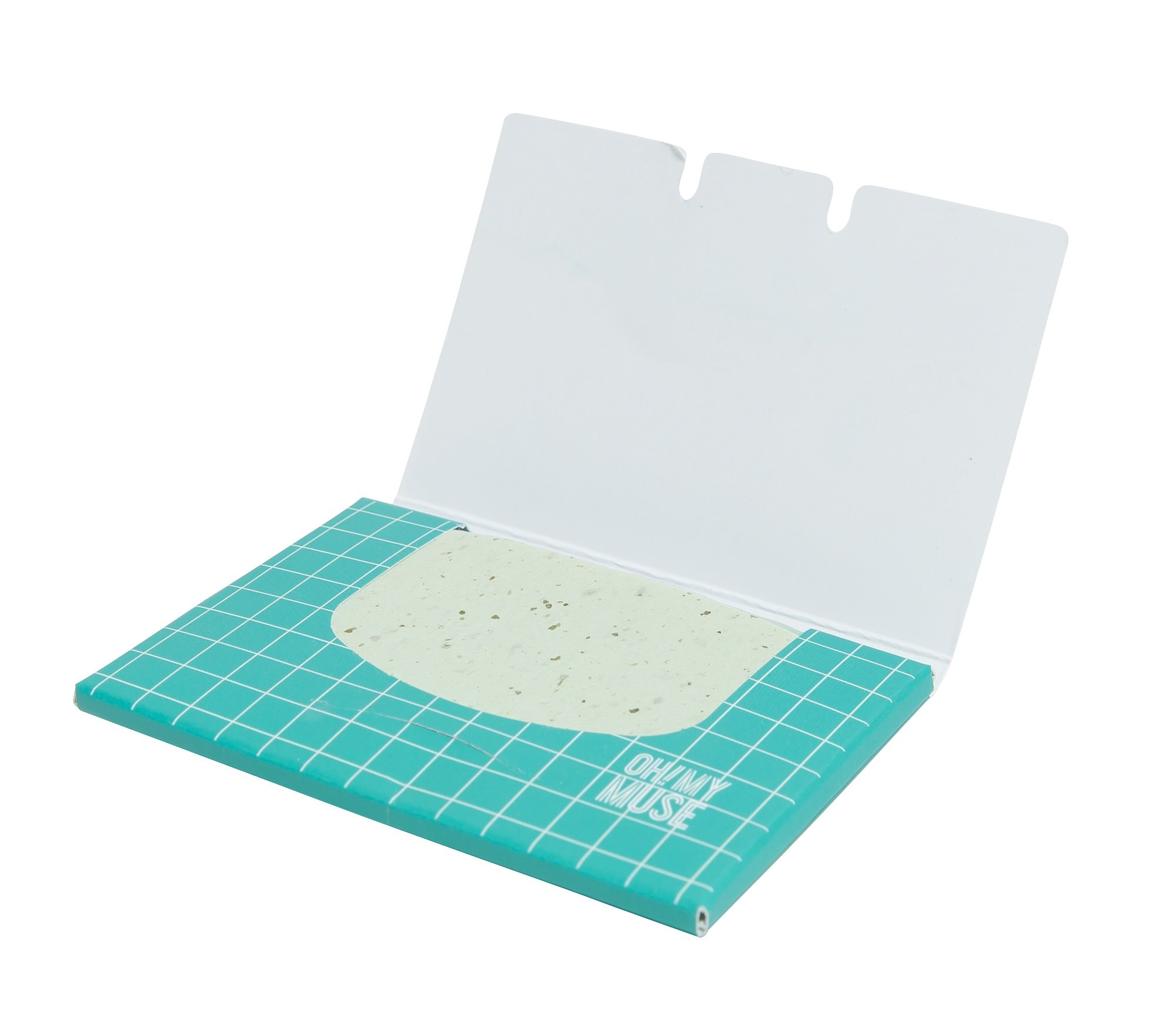 [Oh!My Muse] Natural Green Tea Oil Absorbing Sheets, Blotting Paper, 50 count (10 Packs) by Oh!My Muse (Image #4)