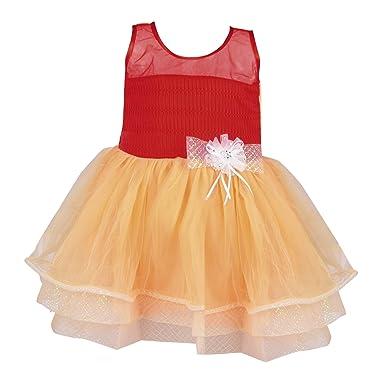 c3a85547d Wish Karo Baby Girls Party Wear Frock Dress DN fe2198T  Amazon.in ...