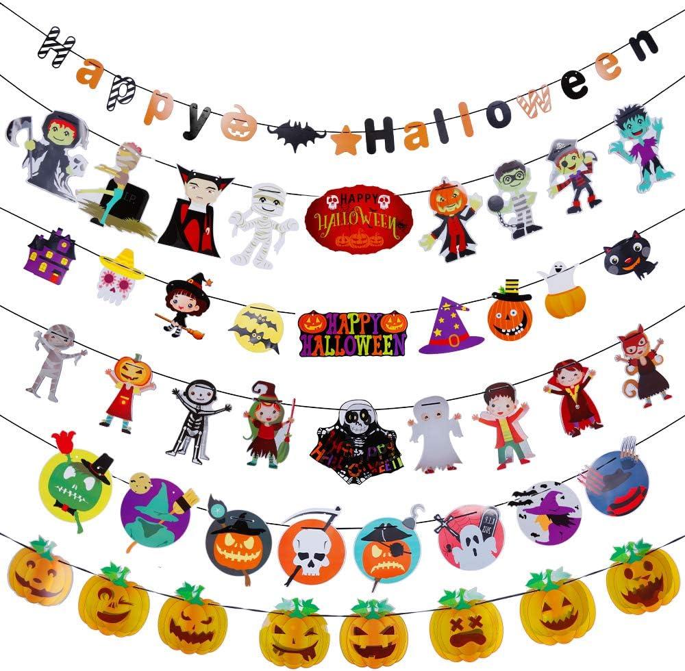 Lictin Halloween Deko Halloween Kostum Kinder Party Halloween Kurbis Dekoration Luftballons Girlanden Schone Motive Amazon De Kuche Haushalt