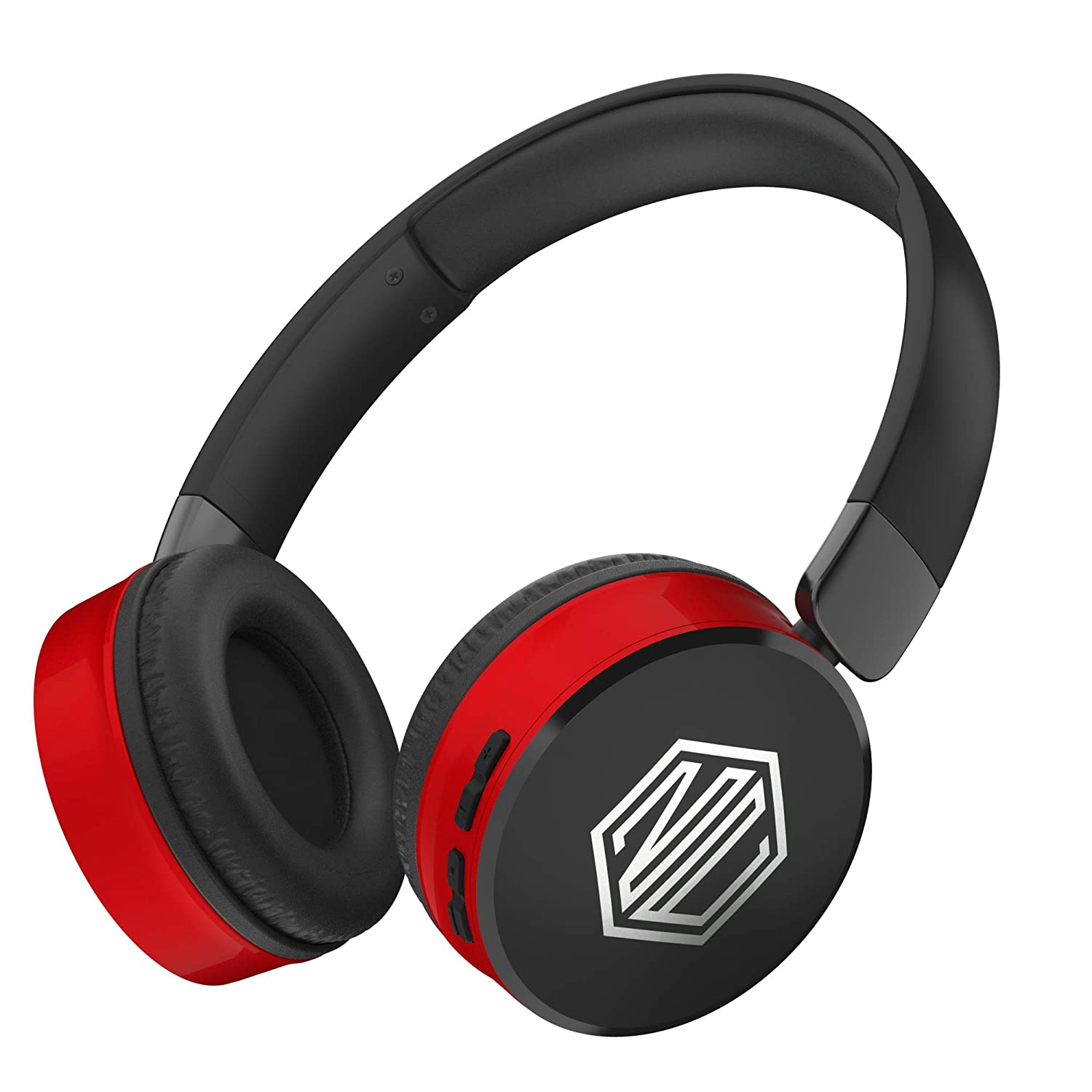 Nu Republic Dubstep Wireless Headphones with Mic (Red and Black)