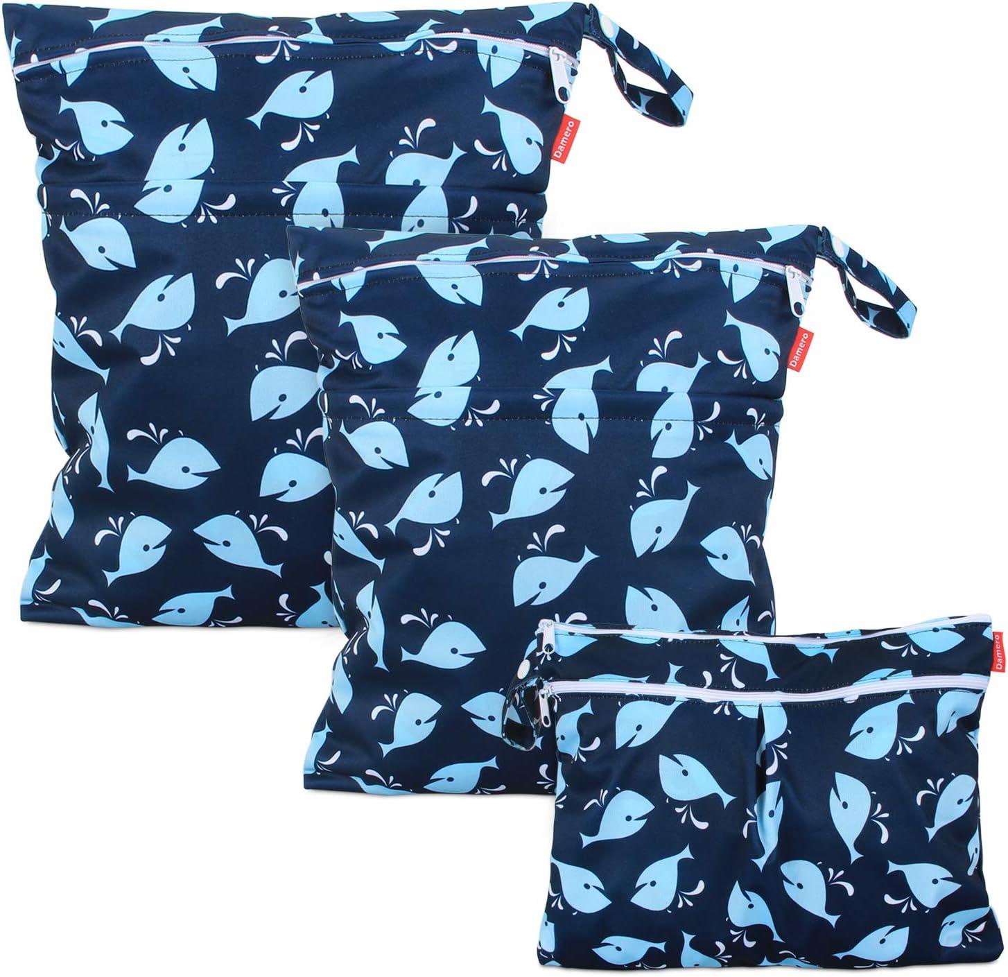 Damero 3 piezas Bolsa Pañales Impermeable, Bolsa para la Ropa de BebéImpermeable, Bolsa de Cambio de Pañal para Bebes para pañales, ropa sucia y más