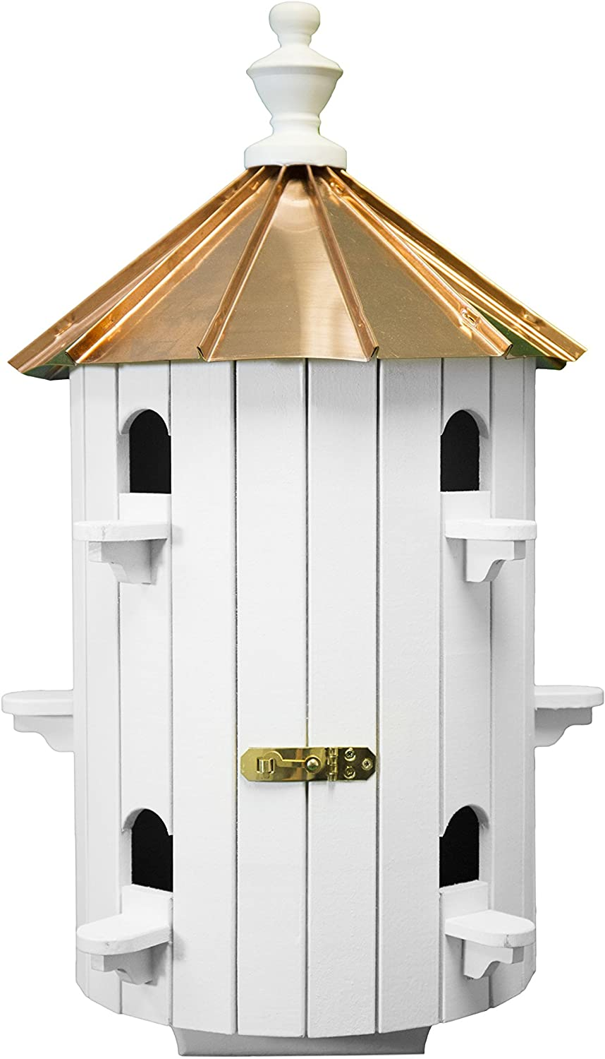 Dress The Yard 10-Hole Copper Roof Wooden Condo Birdhouse