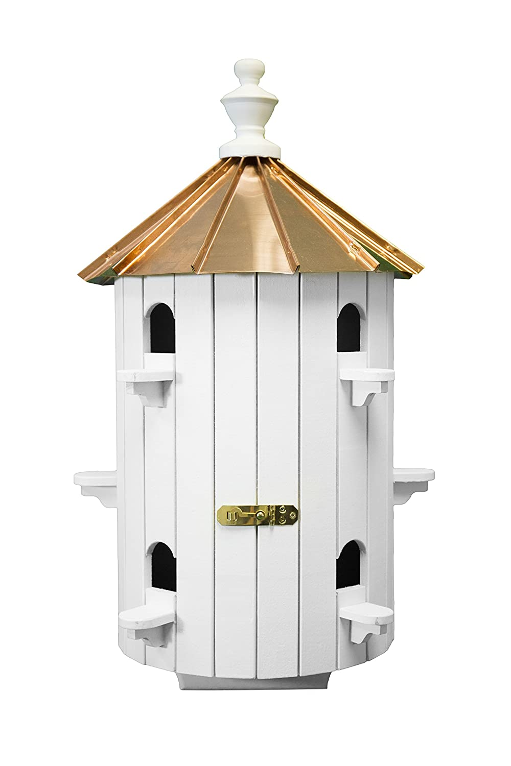 Amish Purple Martin birdhouse is very beautifully buid This birdhouse is designed for attracting purple martins. You can easily attract many purple martin birds to your yard using this birdhouse which will increase the beauty of you garden and you will have sweet littel martin babies this season you will definitely love these martin birdhouse. This birdhouse is a bit expensive but on the other hand this birdhouse can be home to 10 different martin familes which makes it very cool