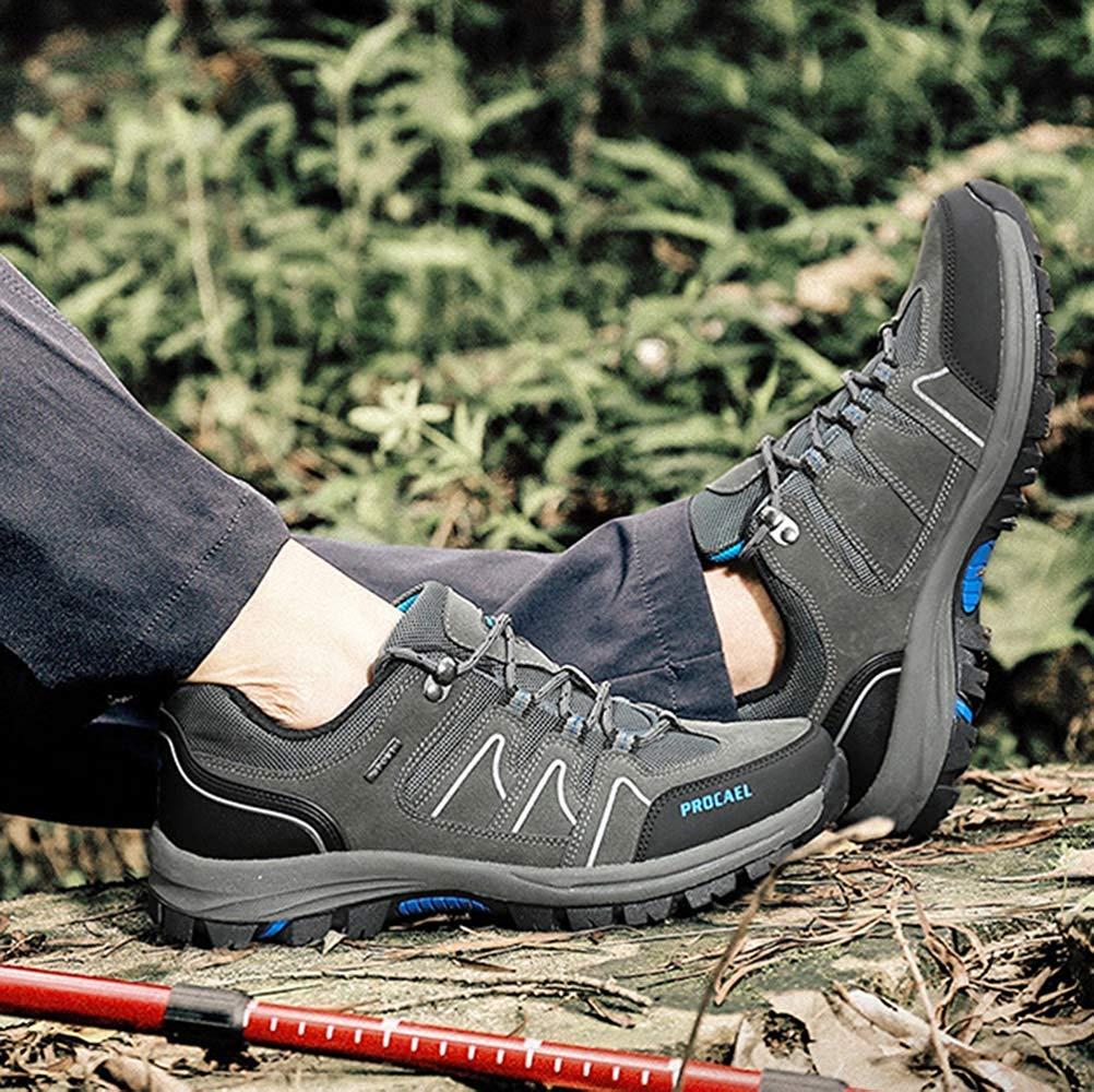 Fuxitoggo Männer Männer Männer Wanderschuhe Stiefel Leder Wanderschuhe Turnschuhe Für Outdoor Trekking Training Beiläufige Arbeit (Farbe   12, Größe   42EU)  dafc84