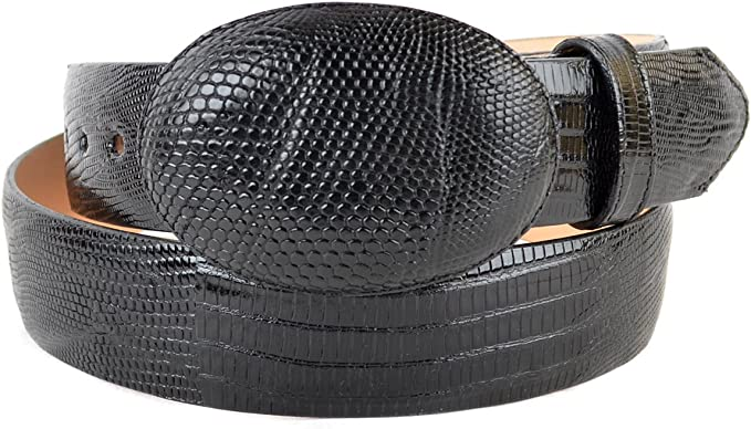 Men/'s Los Altos Genuine Teju Lizard Casual Belt With Removable Buckle Handmade