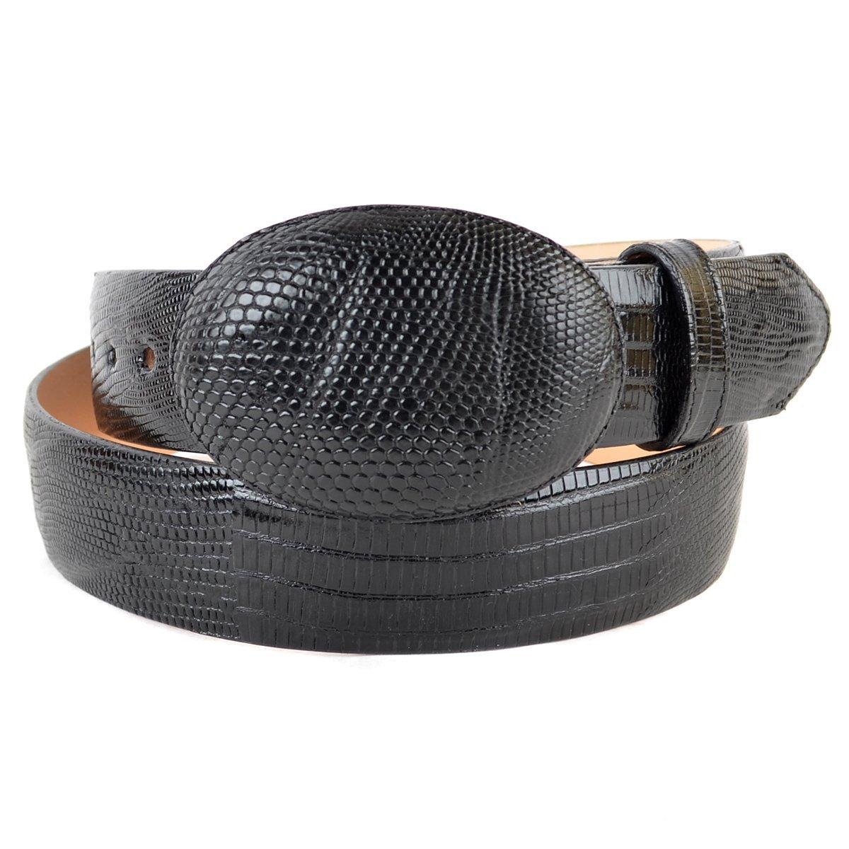 Original Black Lizard Teju Skin Western Style Belt