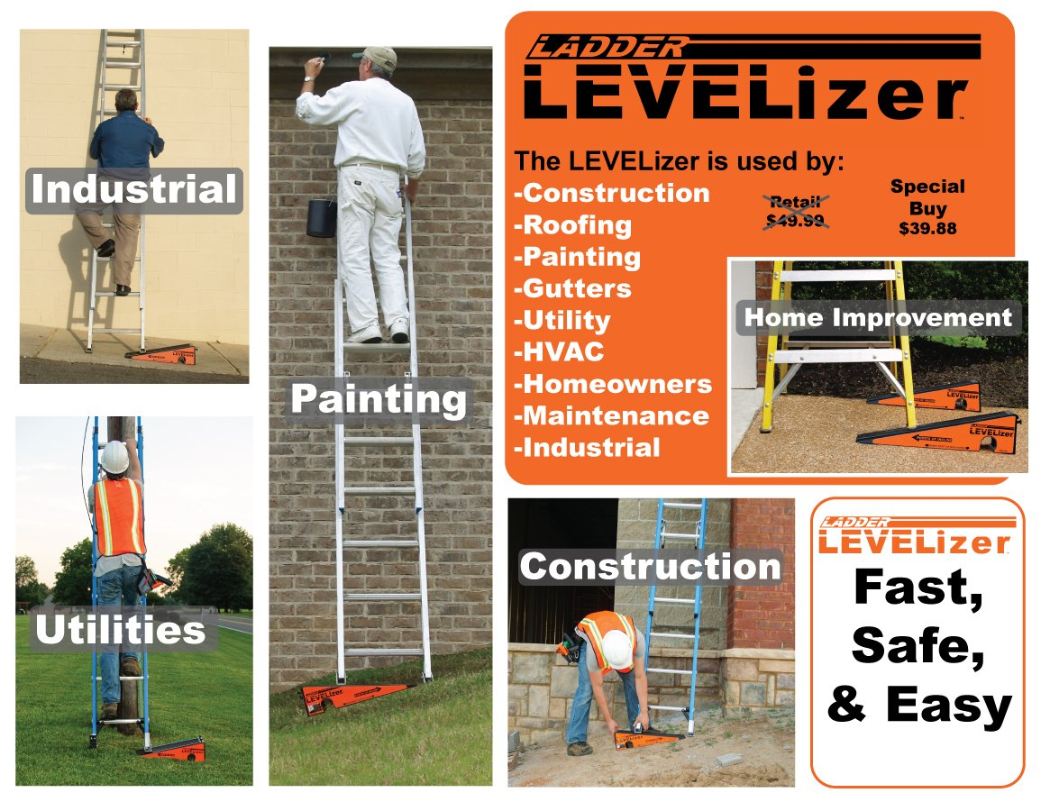 The Levelizer: Fast, Safe, & Easy Ladder Leveling by Advance Inventions LLC (Image #2)