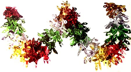 2.7m Multi Colour Peacock Foil Garland Christmas Party Home Ceiling ...