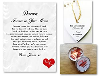 personalised love letter romantic poem gift set forever in your arms husband wife