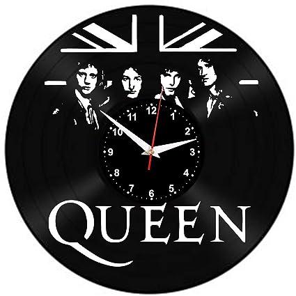 EVEVO Queen Reloj De Pared Vintage Accesorios De Decoración del Hogar Diseño Moderno Reloj De Vinilo