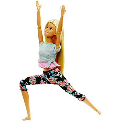 Barbie Made to Move Doll with 22 Joints and Yoga Clothes [ Exclusive]: Toys & Games