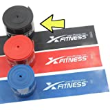 Floss Band by xFitness | 3 Levels of Compression to Choose | Recovery, Compression & Flossing Sore Muscles, Increase Mobility | Best for CrossFit, Rehab Shoulder & Knee Injury