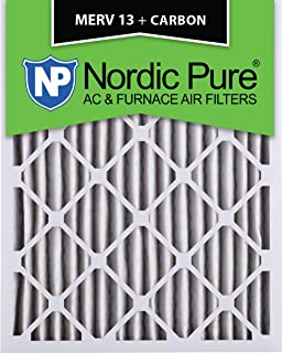 4-Inch by Nordic Pure Box of 2 Nordic Pure 20x24x4M13-2 20x24x4 MERV 13 Pleated AC Furnace Air Filter